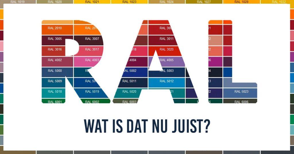 RAL Kleuren: wat zijn dat nu eigenlijk?