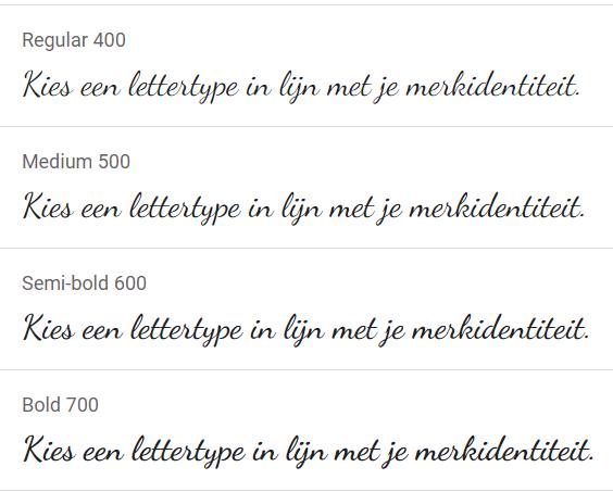Dancing Script Google Font